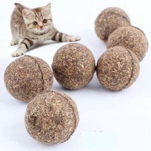 Шар из кошачьей мяты Aliexpress Cat Toy Natural Catnip Ball, Menthol Flavor, Cat Treats, 100% Edible Cats-go-crazy Treats фото