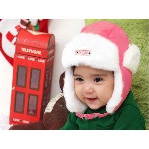 Шапка AliExpress Free Shipping Nice Korean Style Baby Hat worsted Children Caps Winter Cap Ear Muff Headwear 3 Colors Warm Accessory фото