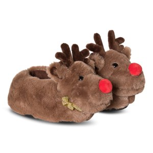 Тапочки Christmas Kids Reindeer Slippers  фото