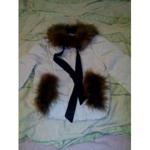 Куртка AliExpress 2013 winter luxury large raccoon fur collar duck feather down coat ladies down Short jacket coat outerwear фото