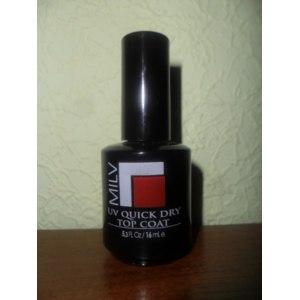 Верхнее покрытие лака для ногтей MILV UV Quick Dry Top Coat на гелевой UV основе фото