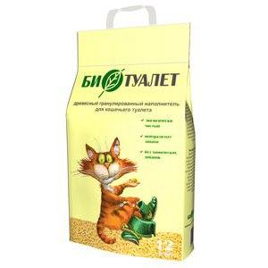 """Наполнитель для кошачьего туалета Био-стандарт древесный """"Биотуалет"""" фото"""