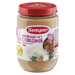 Детское питание Semper Пюре Картофельное рагу с говядиной фото