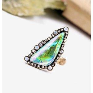 Кольцо Aliexpress Rhinestone Inlay 2015 Popular Accessories Ladies Triangle Big Gem Ring 2015 Antique Gold Plated фото