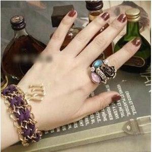 Кольцо Aliexpress Fashion delicate noble rose vintage gem finger rings for women wholesale фото