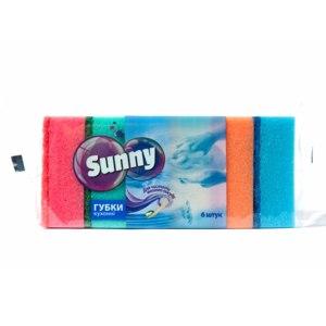 Губки для мытья посуды Sunny Кухонные 6 шт. фото