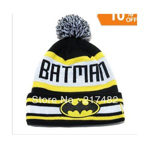 Шапка AliExpress Bat Man kinitted Winter Wool Caps фото