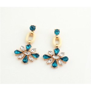 Серьги Ebay JLM's New Women Nice Fashion Clear Rhinestone Clover Flower Drop Stud Earrings фото