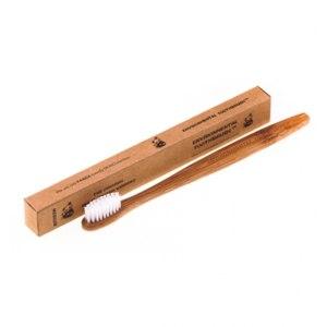Зубная щетка Ecotoothbrush из бамбука (средняя жесткость щетины) фото