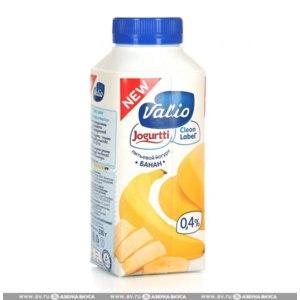 Йогурт Valio питьевой 0,4% банан фото