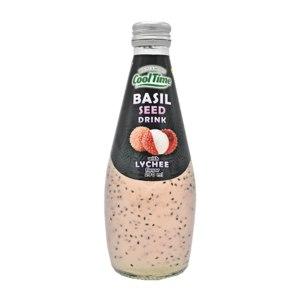 Безалкогольный напиток Basil Seed с семенами базилика и личи. фото