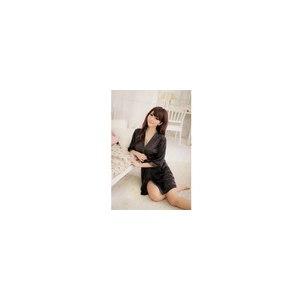 Халат AliExpress Hot selling ! Women Sexy Ice Silk Bathrobe Sleepwear Pajamas Nightdress G-string Lingerie I0396 фото