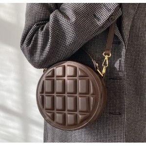 Сумка Aliexpress High quality square and round rhombus chocolate ladies handbag 2021 new korean fashion one shoulder messenger bum bag фото