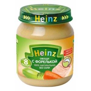 """Пюре Heinz """"Овощи с форелькой"""" фото"""