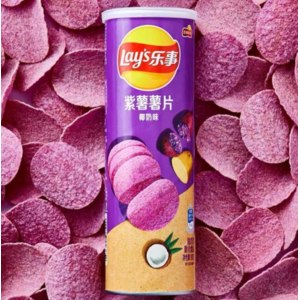 Чипсы картофельные Lays с фиолетовым сладким бататом и мякотью кокоса фото