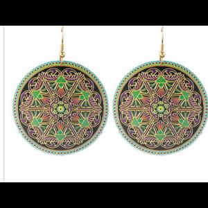 Серьги Aliexpress Round Earrings Turkish jewerly 2015 green vintage Luxury brincos grande dangle earring for women фото