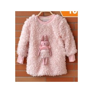 Кофта AliExpress 2015 New autumn and winter thicken warm children's cartoon outerwear clothing for baby, kids clothes girls hoodies pink,3-8T фото