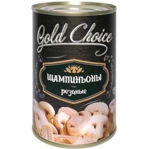 Консервированные шампиньоны Gold Choice резаные фото