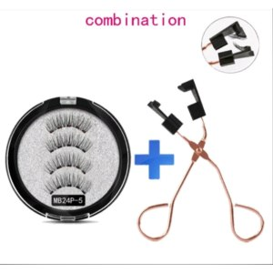 Магнитные ресницы Aliexpress MB Magnetic Eyelashes with 5 Magnets Handmade Reusable 3D Mink False Eyelashes for Makeup faux cils magnetique naturel Tweezers фото