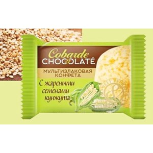 Конфеты В.А.Ш Шоколатье Cobarde El Chocolate мультизлаковые с кунжутом  фото