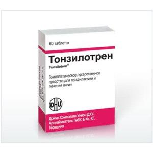 Гомеопатия  Тонзилотрен фото