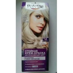 """Крем - краска для волос с тройным уходом Palette А10 """"Жемчужный блондин"""" фото"""
