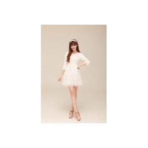 Мини-платье AliExpress Fashion apple flower lace woman dress women dresses lady one-piece dress White Free Shipping фото