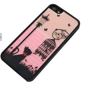 Чехол для мобильного телефона Aliexpress Fashion Cute Street Cat Birdcage Design Hard Case Cover for iPhone 5 5G фото