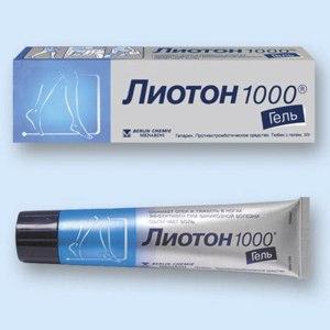 Средства д/лечения варикозного расширения вен BERLIN-CHEMIE ЛИОТОН 1000 фото