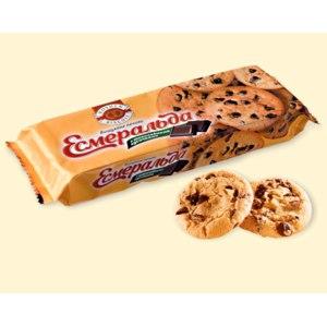 Печенье ROSHEN Эсмеральда с шоколадными кусочками фото