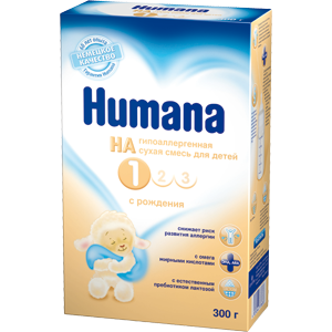 Детская молочная смесь Humana Гипоаллергенная смесь HA 1 от 0 до 6 месяцев фото