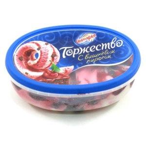 "Мороженое Инмарко ""Торжество"" с вишневым пирогом фото"