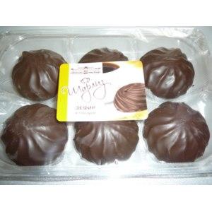 Зефир в шоколаде Шарлиз Ванильный в глазури фото
