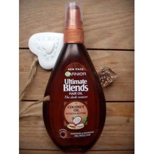 Масло-спрей для волос Garnier Ultimate Blends HAIR OIL (The Sleek Restorer) Coconut & Cocoa Butter Heat Protection / (Реставратор Гладкости) Кокос и Масло Какао c Термозащитой фото
