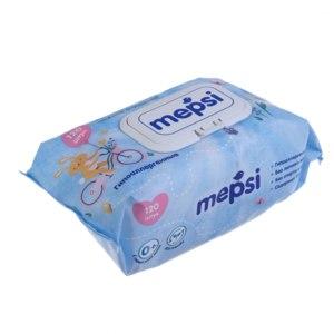 Влажные салфетки Mepsi Гиппоалергенные 120 штук  фото
