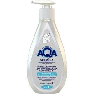 Эмульсия для купания AQA dermika Липидная 2 в 1 фото
