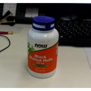 БАД Now Foods Black Walnut Hulls (скорлупа черного ореха) фото