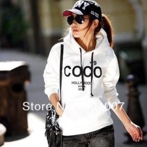 Толстовка AliExpress Women's COCO Printed Hoodies Leasure tracksuit Sweatshirt Tracksuit Tops Outerwear With Hat  фото