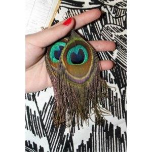 Бижутерия Aliexpress Fashion Earrings Peacock Natural Feather Earrings Wholesale Drop Earrings free shipping фото