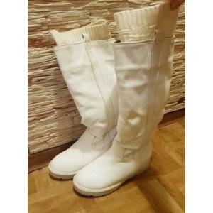 Сапоги женские зимние Enmayer с декоративными вязаными носками и искусственным мехом. Арт.: 13347255 фото