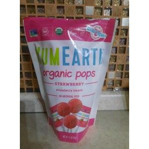 Органические леденцы YumEarth Organic pops strawberry фото