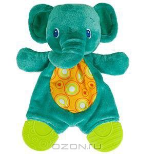 """Bright Starts  Развивающая игрушка """"Самый мягкий друг: Слоненок""""с прорезывателем фото"""