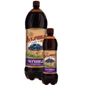 Напиток безалкогольный сильногазированный Лукошко Черника с экстрактами шиповника, женьшеня и альпийских трав фото