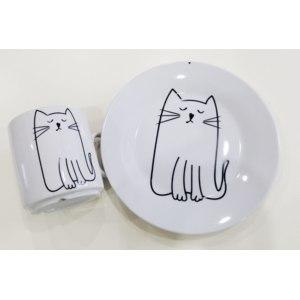 Набор посуды Сотвори Чудо Киска(2 в 1:кружка+тарелка) фото