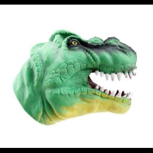 Aliexpress Игрушка-рукавичка Динозавр Dinosaur Head Figure Puppet Gloves Toys Soft TPR Dinosaur Hand Puppet Gloves Children Realistic Animal Head Model Gloves Toys фото