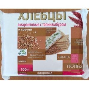 Хлебцы Di&Di Амарантовые с топинамбуром и гречей фото