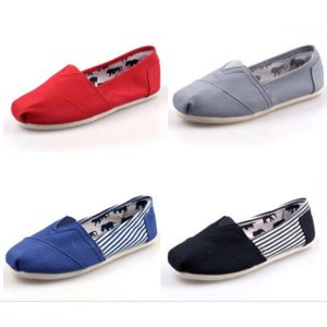 Спортивная женская обувь Aliexpress Free shipping 2013 brand new women and men canvas flat shoes canvas single shoes loafers casual shoes solid flats фото