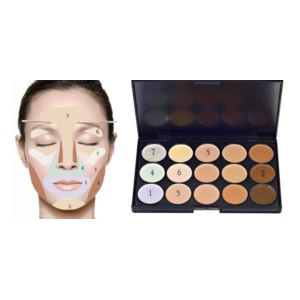 Палетка консилеров Aliexpress 2015 hot New Professional 15 Colors Concealer Camouflage Face Cream Makeup Neutral Palette for Girls and Women free shipping фото