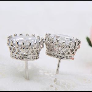 Серьги - гвоздики Aliexpress Teemi Best Selling CZ Diamond Stud Earrings 18k White Gold Plated Fashion Zircon Earrings for Women Wholesale Brand Jewelry фото