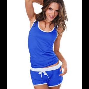 Домашний костюм AliExpress Women Pajamas Set 2013 Cotton Sleepwear Lounge Clothing Summer Sportwear Women Big size Pyjamas фото